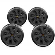 Calota Preto Fosco Jogo 4Pçs Chevrolet Agile Onix Prisma 2020 Aro 15 G195Pfj