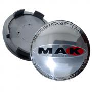 Calotinha Centro Miolo De Roda Cromado Mak 60mm