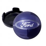 Calotinha Centro Miolo De Roda Ford Focus Azul 55mm