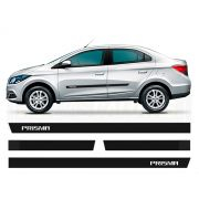 Friso Borrachão Lateral Chevrolet Novo Prisma 2013 a 2019