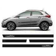 Friso Borrachão Lateral Hyundai Hb20x 2012 a 2019