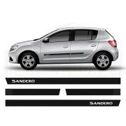 Friso Borrachão Lateral Renault Novo Sandero