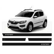 Friso Borrachão Lateral Renault Novo Sandero Stapway