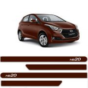 FRISO HYUNDAI HB20 MARRROM CLAY C/4 PÇS - H6325MC