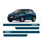 Friso Lateral Personalizado Onix Hatch Nova Geração Azul Seeker