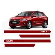Friso Lateral Personalizado Onix Hatch Nova Geração Vermelho Carmim