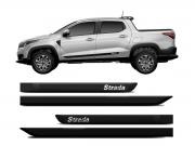 Friso Lateral Preto Borrachao Fiat Nova Strada 4p 2020 2021