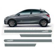 Friso Lateral Hyundai Hb20 Hatch 2020 Cinza Silk
