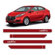Friso Lateral Hyundai HB20S Sedan 2020 Vermelho Magic