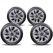 Calota Elitte 4pçs Gm Corsa Celta Aro 13 E3002J