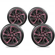 Jogo Calota Elitte Pink Aro 14 Fiat Argo Novo Uno Palio E4115J