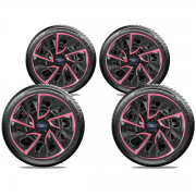 Jogo Calota Elitte Pink Aro 14 Ford KA Fiesta Focus E4115J