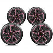 Jogo Calota Elitte Pink Aro 14 Chevrolet Onix Prisma Celta E4115J