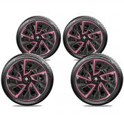 Jogo Calota Elitte Pink Aro 14 Renault Logan Sandero E4115J