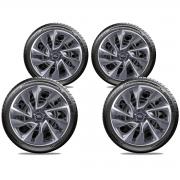 Calota Elitte 4pçs Ford Ka New Fiesta Focus Aro 15 E5101J