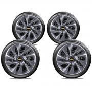 Jogo Calota Elitte Aro 15 Chevrolet Novo Onix Prisma Cobalt E5101J