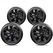 Calota 4pçs Elitte Black Piano Aro 14 Ford Ka Fiesta Focus LC232J