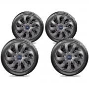 Calota Elitte 4pçs Grafite Fosco Aro 14 Ford KA Focus Fiesta LC116J