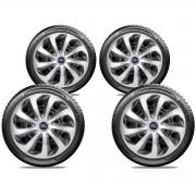 Jogo Calota Elitte Aro 15 Ford Fiesta KA Focus E5701J