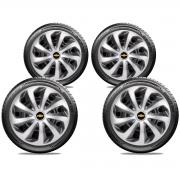 Jogo Calota Elitte Chevrolet Onix Prisma Cruze Cobalt Aro 15 E5701J