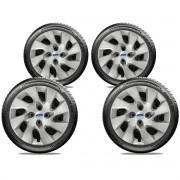 Calota Jogo 4Pçs Ford Fiesta Focus Ka Fiestinha Novo Ka Aro 14 G133J