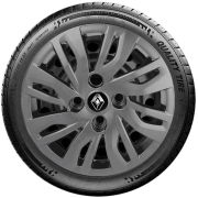 Jogo Calota Grafite Renault Logan Sandero Clio Aro 14 G344gft