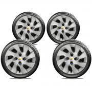 Calota Jogo 4Pçs Chevrolet Agile Onix Prisma Astra Aro 15 G195J