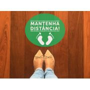 KIT C/ 10 ADESIVO MANTENHA A DISTANCIA VERDE 30X25CM GTECH
