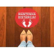 KIT C/ 10 ADESIVO MANTENHA A DISTANCIA VERMELHO 30X25CM GTECH