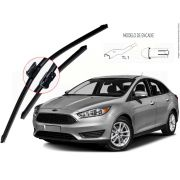 Kit de Palhetas Limpador de Parabrisa Ford Focus Sedan 2015 2016 2017 2018 2019 2020