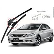 Kit de Palhetas Limpador de Parabrisa New Civic 2012 2013 2014 2015 2016
