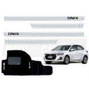 Kit Novo Onix Hatch 2020 Tapete E Friso Branco Summit