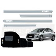 Kit Novo Onix Hatch 2020 Tapete E Friso Prata Switchblade
