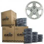 Lote Kit De Calotas Para Revenda Com 12pçs Aro 13 Grid G013k