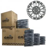 Lote Kit De Calotas Para Revenda Com 12pçs Aro 13 Grid G015ptgk