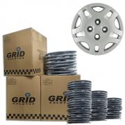 Lote Kit De Calotas Para Revenda Com 12pçs Aro 13 Grid G021k