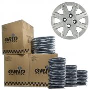 Lote Kit De Calotas Para Revenda Com 12pçs Aro 13 Grid G072k