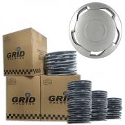 Lote Kit De Calotas Para Revenda Com 12pçs Aro 13 Grid G101k