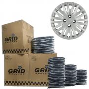Lote Kit De Calotas Para Revenda Com 12pçs Aro 14 Grid G010k