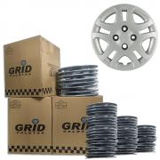 Lote Kit De Calotas Para Revenda Com 12pçs Aro 14 Grid G026k