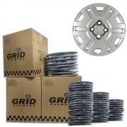 Lote Kit De Calotas Para Revenda Com 12pçs Aro 14 Grid G056k