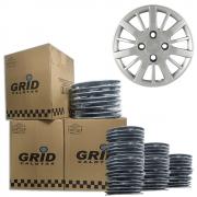 Lote Kit De Calotas Para Revenda Com 12pçs Aro 14 Grid G073k