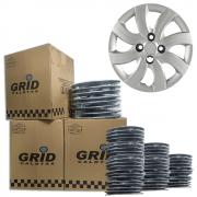 Lote Kit De Calotas Para Revenda Com 12pçs Aro 14 Grid G094k
