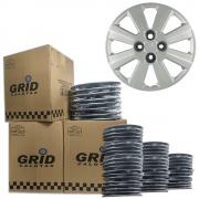Lote Kit De Calotas Para Revenda Com 12pçs Aro 14 Grid G109k