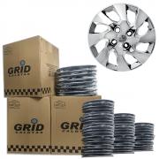 Lote Kit De Calotas Para Revenda Com 12pçs Aro 14 Grid G133CHRk