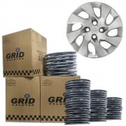 Lote Kit De Calotas Para Revenda Com 12pçs Aro 14 Grid G133k