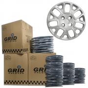 Lote Kit De Calotas Para Revenda Com 12pçs Aro 14 Grid G157k