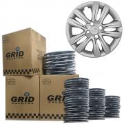 Lote Kit De Calotas Para Revenda Com 12pçs Aro 15 Grid G192k