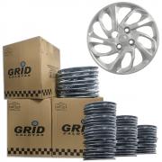 Lote Kit De Calotas Para Revenda Com 12pçs Aro 14 Grid G228k