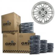 Lote Kit De Calotas Para Revenda Com 12pçs Aro 15 Grid G045k